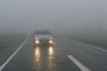 تردد در گردنه های مهاباد به علت مه غلیظ کند است