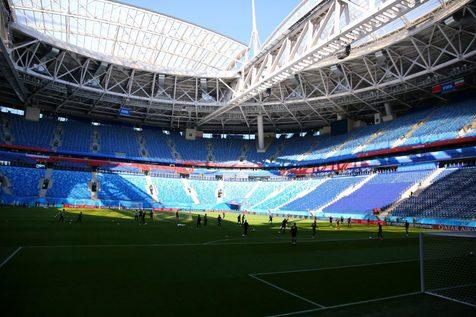 گزارش تصویری تمرین تیم ملی در ورزشگاه اصلی سن پترزبورگ