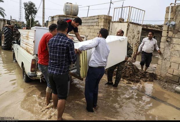 110 روستای در خطر سیل خوزستان تخلیه شدند