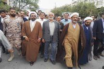 امام جمعه جدید شهرستان کازرون نماز جمعه را اقامه کرد