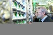رئیس مجلس شورای اسلامی به زیارت حضرت شاهچراغ (ع) مشرف شد