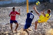 تیم فوتبال ساحلی پیام اردکان از شاهین خزر رودسر شکست خورد