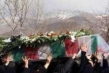 پیکر مادر سه شهید در کازرون تشییع شد