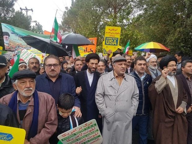 راهپیمایی امروز مردم ایران پایان توطئه های آمریکا بود
