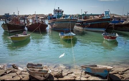 انتقال شناورهای باری بندردیر بوشهر به اسکله الی شمالی