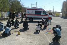 مانور بزرگ زلزله و ایمنی در مدارس خاش برگزار شد