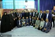 دیدار مدیر کل و اعضای شورای معاونین و روسای ادارات آموزش و پرورش شهرستان های استان تهران با سید حسن خمینی