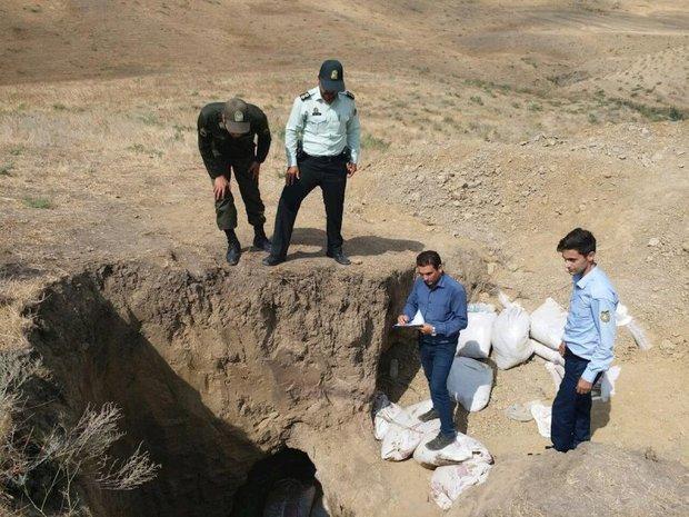 حفاران غیر مجاز در بخش باجگیران شهرستان قوچان دستگیر شدند
