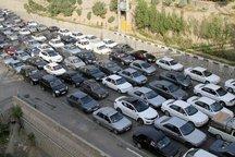 حجم ترافیک در جاده کرج - چالوس سنگین است