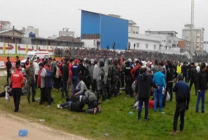 تصاویری از درگیری خونین در دربی مازندران
