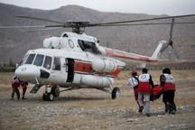 امدادگران هلال احمر موتورسوار را از مرگ نجات دادند