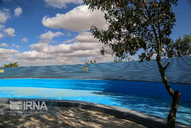 استخر بانوان در بش قارداش بجنورد تابستان بهره برداری می شود