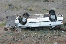 واژگونی خودرو در محور قم - گرمسار 3 مصدوم داشت