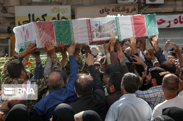 پیکر شهید تازه تفحصشده مدافع حرم در شهرری تشییع شد