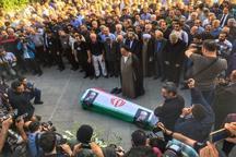 مراسم تشییع پیکر دکتر ابراهیم یزدی در حسینیه ارشاد برگزار شد
