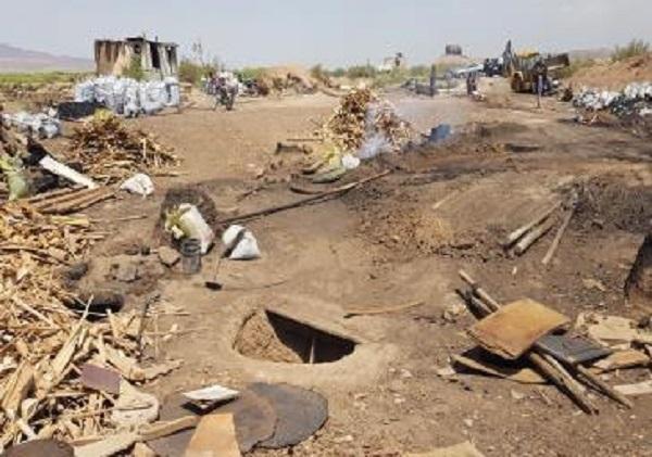 32 کوره زغال سازی غیر مجاز در فشافویه تخریب شد