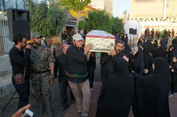 تشییع پیکر مطهر شهید گمنام دفاع مقدس در فردیس