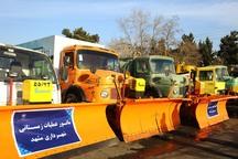 420 دستگاه ماشین آلات زمستانی در مشهد آماده خدمت شد