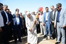 کلنگ دو پروژه عمرانی در منطقه آزاد اروند زده شد
