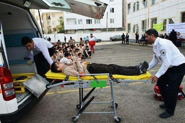 رزمایش زلزله و ایمنی در ۱۰ مدرسه آستارا اجرا شد