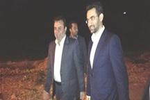 آذری جهرمی وزیر ارتباطات وارد یاسوج شد