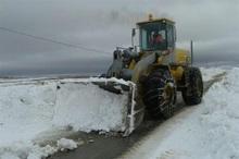 500 کیلومتر راه روستایی شیروان برف روبی شد