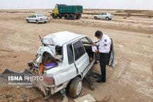 کشته شدن دو نفر و مصدومیت هفت نفر بر اثر واژگونی خودرو در هرمزگان
