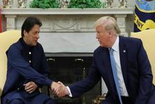 دیدار ترامپ و عمران خان در کاخ سفید+عکس