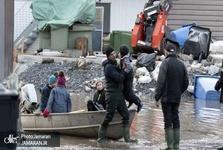 تخلیه شرق کانادا به دلیل جاری شدن سیل+ تصاویر