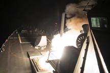 حمله موشکی آمریکا به یک پایگاه هوایی سوریه