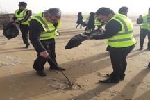 ساحل گناوه پاکسازی شد