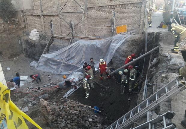 ریزش آوار در تهران 2 مصدوم داشت