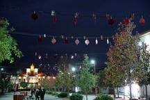 آذین بندی ساختمان شهرداری رشت و نصب المانهایی در ۵ نقطه شهر به مناسبت شب یلدا
