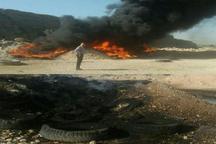 آتش سوزی دهها حلقه لاستیک خودرو در دزفول مهار شد