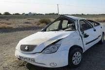 واژگونی خودرو درمحور بروجرد - اراک یک کشته ویک زخمی برجای گذاشت