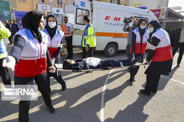 بیست و یکمین مانور سراسری زلزله و ایمنی در مدارس فارس برگزار شد