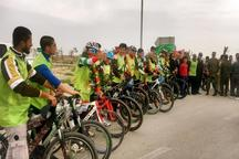 دوچرخه سواران طرح 40 بهار ناجا وارد بوشهر شدند