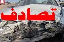 برخورد 2 خودرو در مسیر ارتباطی بیجار - خدابنده یک کشته برجا گذاشت