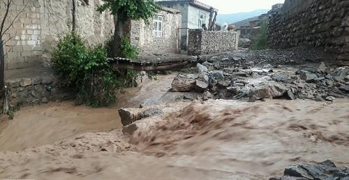 سیلاب به 35 خانه روستایی در نقده خسارت زد