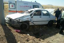 واژگونی 2 خودرو در گناباد هشت مصدوم بر جای گذاشت