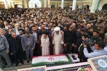 پیکر شهید رضا ثابتی در آبادان تشییع و خاکسپاری شد