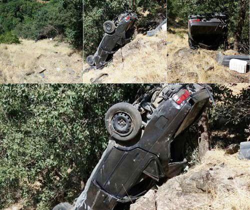 واژگونی خودرو در محور نودشه به مریوان 2 کشته بر جای گذاشت