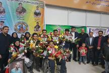 استقبال از افتخارآفرینان کاروان ورزشی خوزستان در مسابقات پاراآسیایی امارات