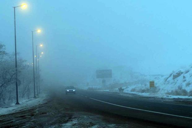 دید افقی در جاده های کردستان تا 50 متر کاهش یافت