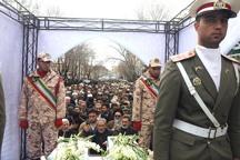 پیکر مطهر 4 شهید گمنام دفاع مقدس در ارومیه تشییع شد