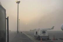مه برخی از پروازهای فرودگاه اهواز را باطل و یا به تاخیر انداخت