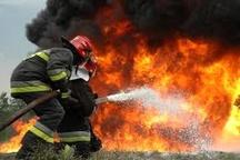 سوختگی مرد میانسال بر اثر آتشسوزی در اتاقک نگهبانی