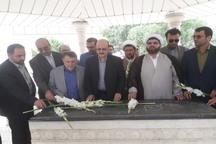 استاندار قزوین به شهدای ضیاء آباد ادای احترام کرد