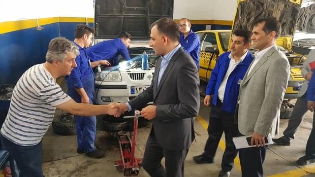 نظارت مدیران خدمات پس از فروش ایران خودرو برارائه خدمات به مسافران تعطیلات تابستانی