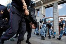 بازداشت صدها مخالف روسی در مسکو+عکس
